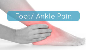 Osteopathy ankle pain