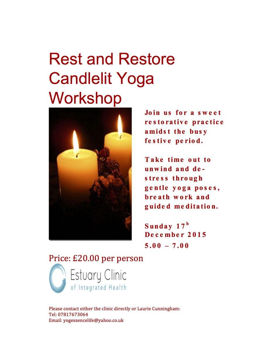 Relaxing candlelight yoga