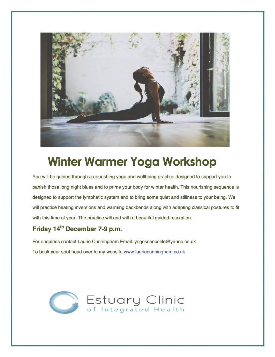 winter warming yoga workshop for health