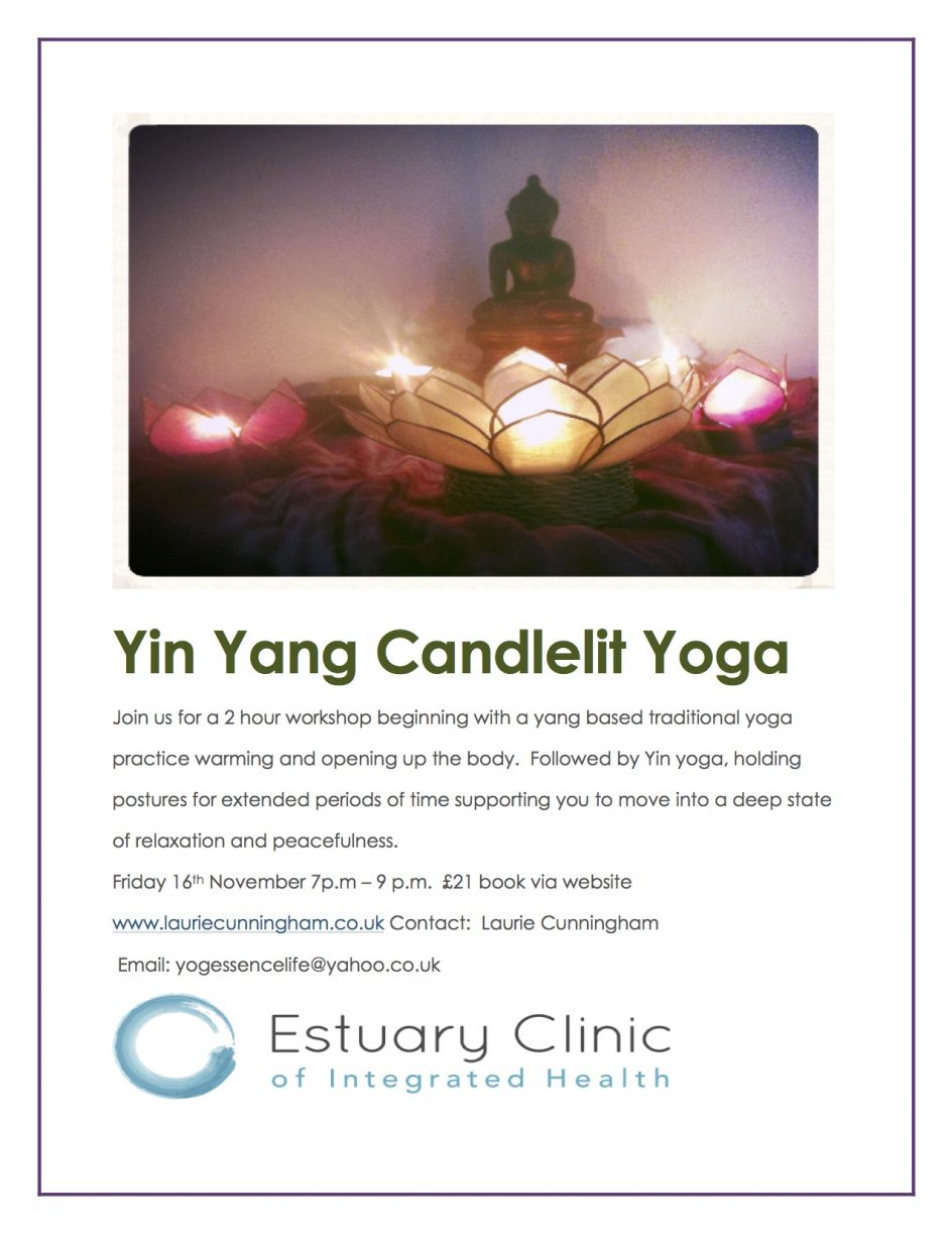 candlelit yoga relaxation & openness