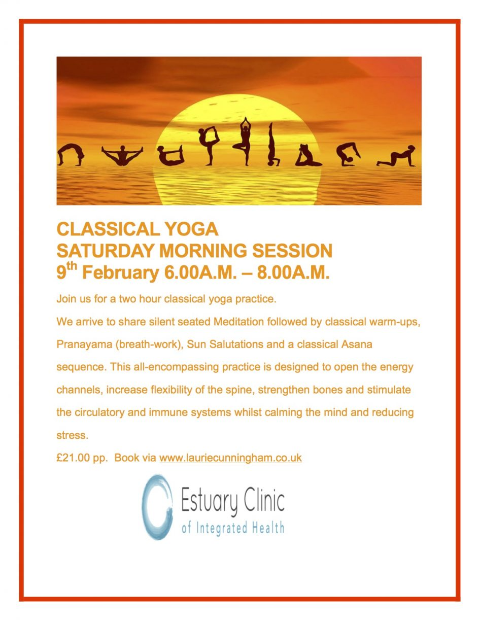 Yoga Workshop Saturday 9th Feb