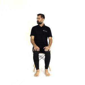 seated active cervical rotation