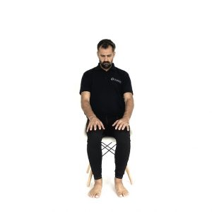 seated active cervical flexion