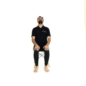Seated active cervical extension