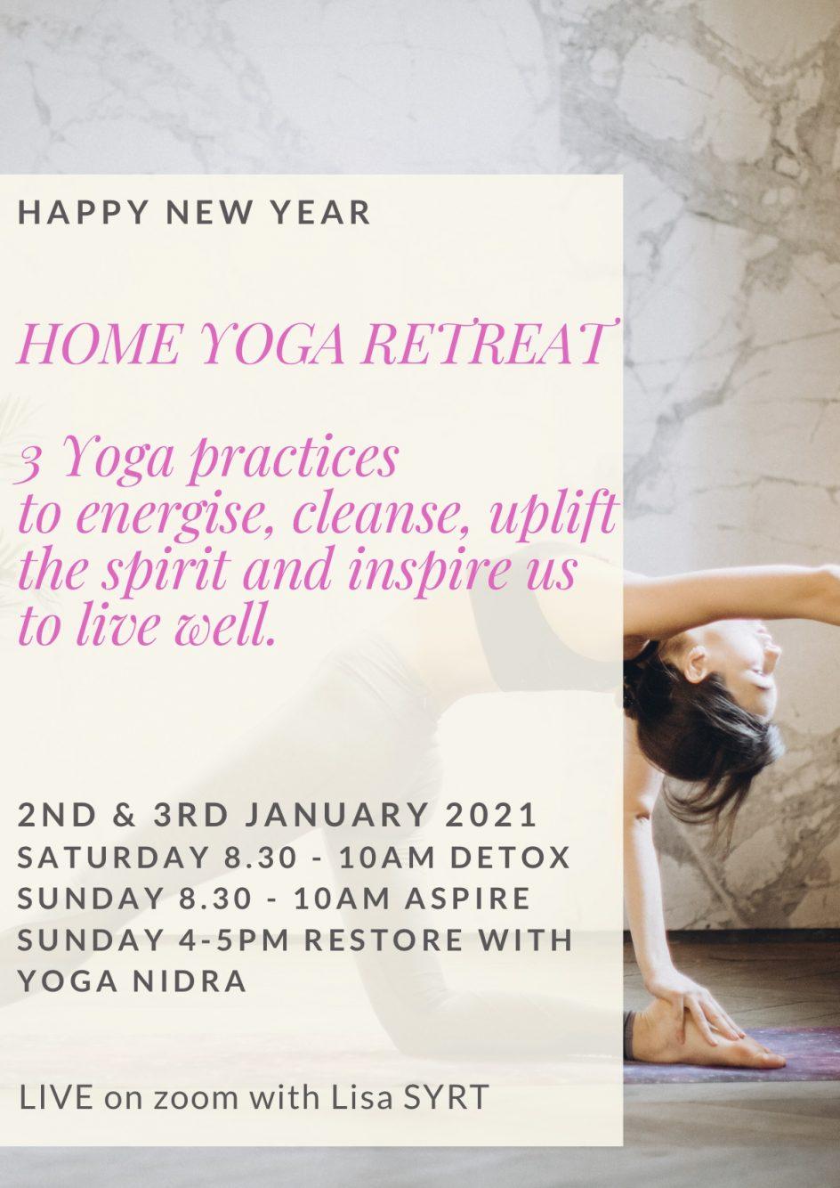 2021 Online Yoga retreat